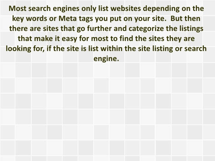 Submitting Your Website To Directories For Free Slide 3