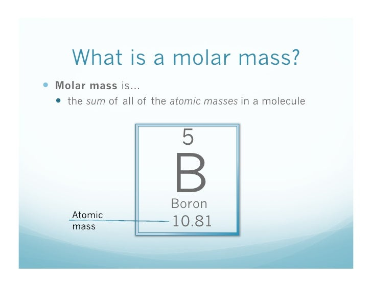 5 What Is A Molar