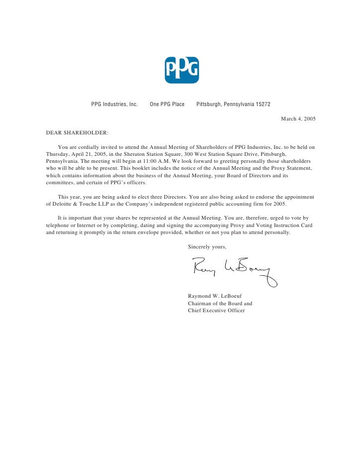 PPG Industries, Inc.    One PPG Place       Pittsburgh, Pennsylvania 15272                                                ...
