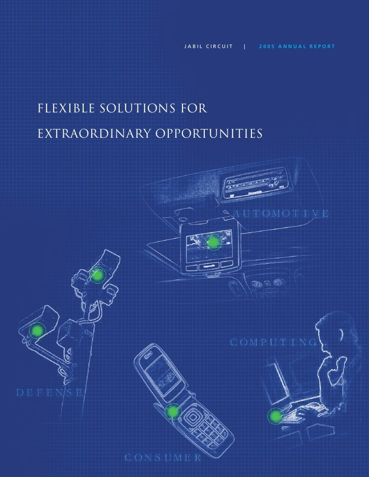 JABIL CIRCUIT   |   2005 ANNUAL REPORT     Flexible SolutionS For  extraordinary opportunitieS                            ...