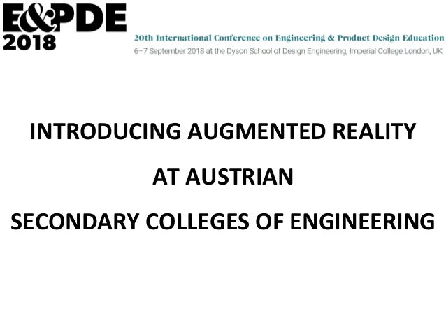 INTRODUCING	AUGMENTED	REALITY	 AT	AUSTRIAN	 SECONDARY	COLLEGES	OF	ENGINEERING