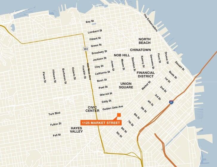 Market St San Francisco - San francisco map financial district