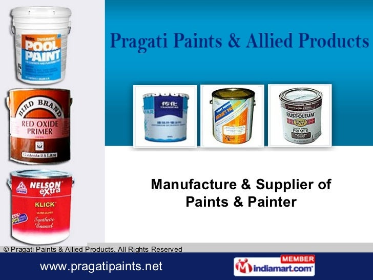 Manufacture & Supplier of Paints & Painter