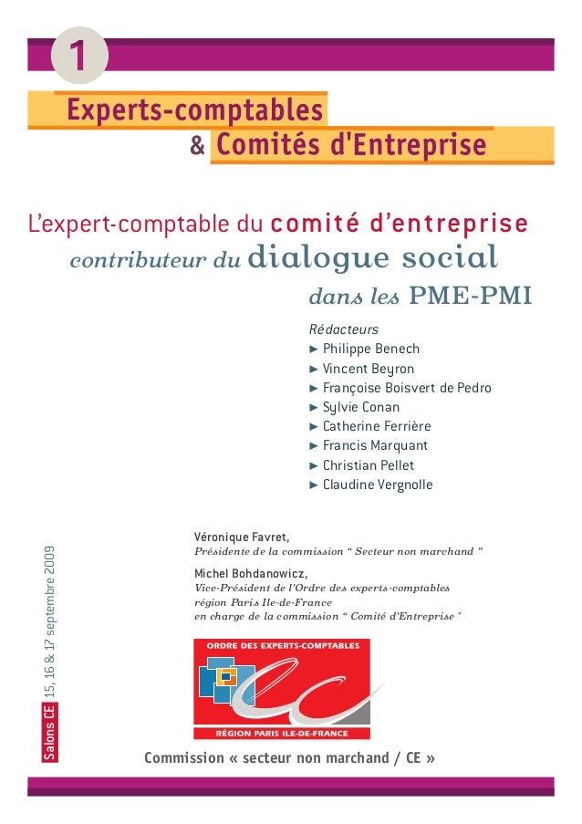 L'expert-comptable du comité d'entreprise contributeur du dialogue social dans les PME-PMI Rédacteurs ! Philippe Benech ! ...
