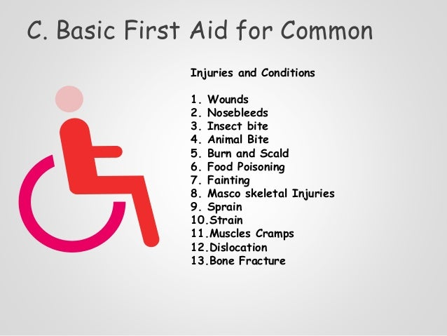 basic first aid example Examples of workplaces that may be considered high risk are where workers:   the first aid kit should provide basic equipment for administering first aid for.