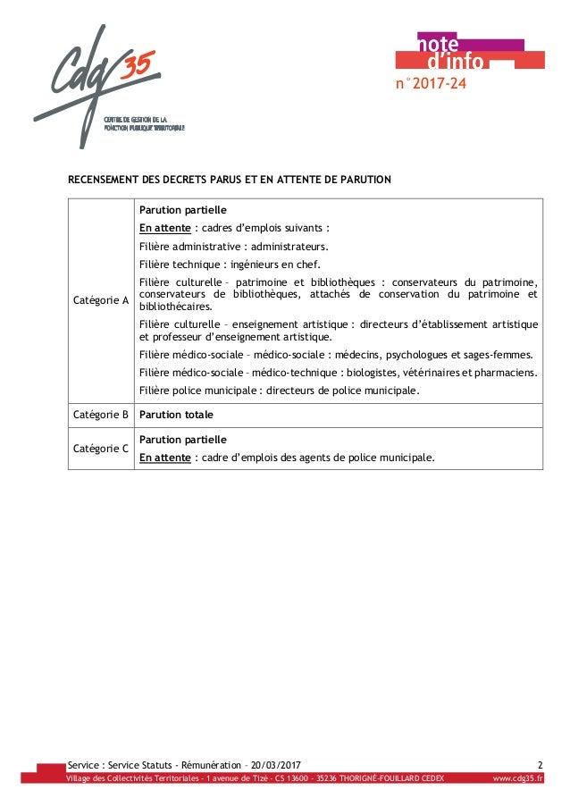 Presentation synthetique grilles et echelonnements maj 20032017 - Evolution grille indiciaire categorie c ...