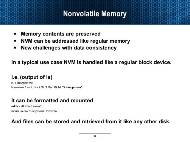 New Types of Memory, their support in Linux and how to use them via R…