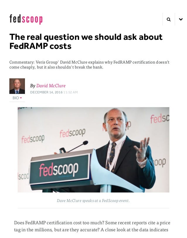 mcclure fedramp for fedscoop