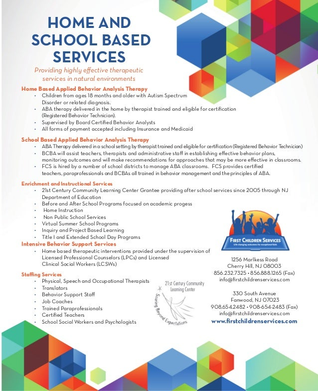 fcs home school based services sheet