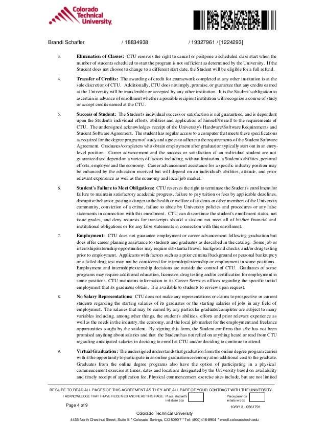 Ctu Refund Policy