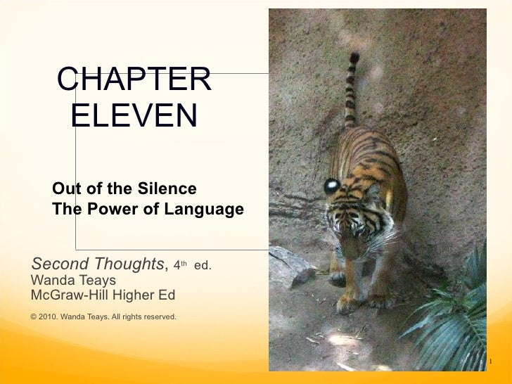 CHAPTER ELEVEN Second Thoughts ,  4 th   ed. Wanda Teays McGraw-Hill Higher Ed © 2010. Wanda Teays. All rights reserved. O...