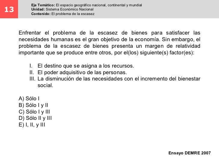 Eje Temático: El espacio geográfico nacional, continental y mundial13         Unidad: Sistema Económico Nacional          ...
