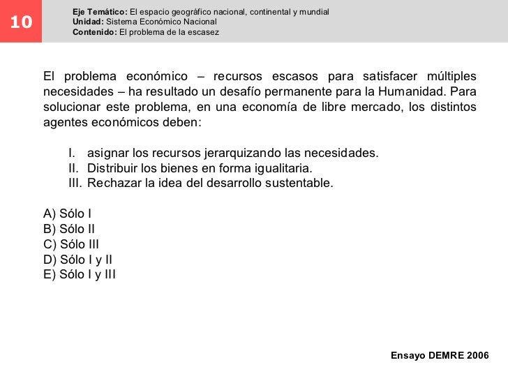 Eje Temático: El espacio geográfico nacional, continental y mundial10         Unidad: Sistema Económico Nacional          ...