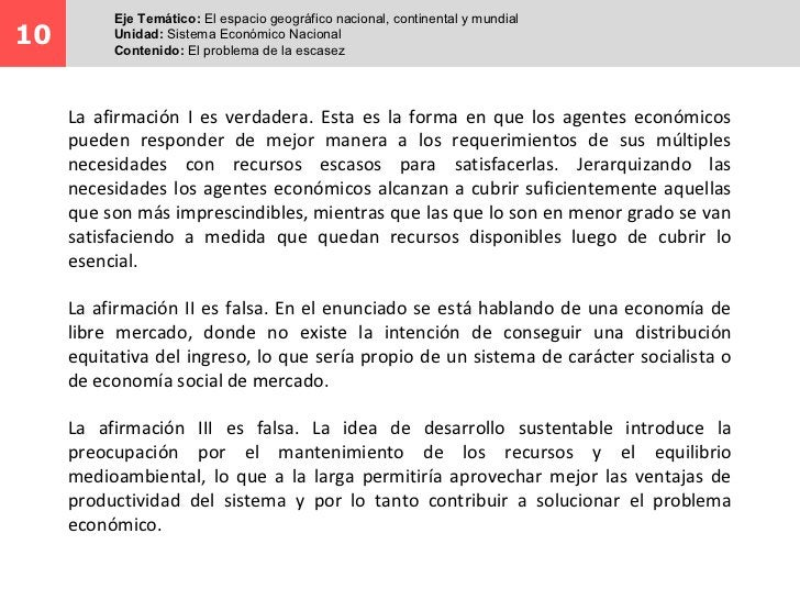 Eje Temático: El espacio geográfico nacional, continental y mundial10        Unidad: Sistema Económico Nacional          C...