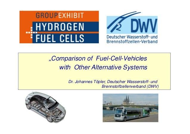 """""""Comparison of Fuel-Cell-Vehicles with Other Alternative Systems Dr. Johannes Töpler, Deutscher Wasserstoff- und Brennstof..."""