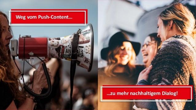 Weg vom Push-Content… …zu mehr nachhaltigem Dialog!