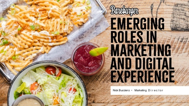 Emerging Roles in Marketing and Digital Experience Nick Bucciero • Marketing D i r e c t o r