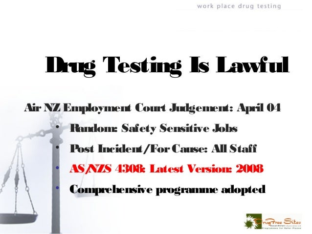 Workplace Drug Testing: On-Site Screening Versus Laboratory