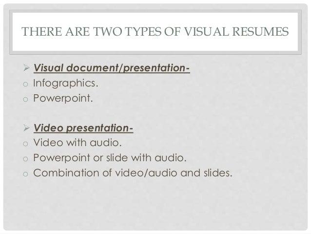 resume visual presentation