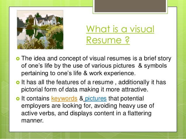 what is a visual resume