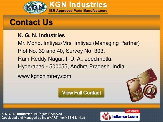 K  G  N  Industries Andhra Pradesh India