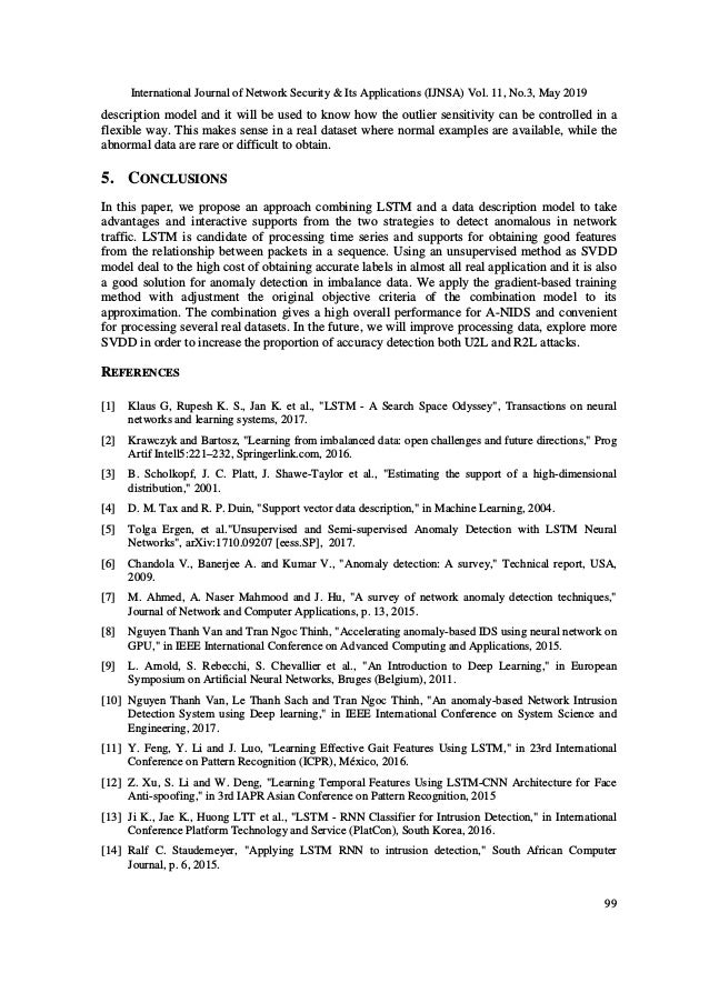 International Journal of Network Security & Its Applications (IJNSA) Vol. 11, No.3, May 2019 99 description model and it w...