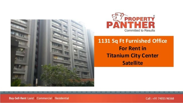 1131 Sq Ft Furnished Office For Rent in Titanium City Center Satellite