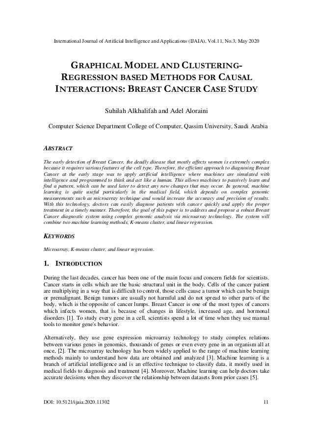 International Journal of Artificial Intelligence and Applications (IJAIA), Vol.11, No.3, May 2020 DOI: 10.5121/ijaia.2020....