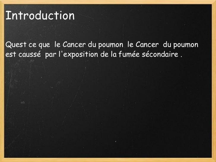 Cancer du Slide 2