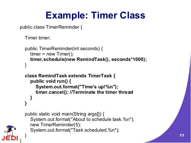 java timer example gallery resume cover letter examples
