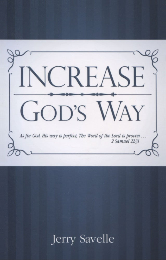 113777633 Increase God S Way By Jerry Savelle