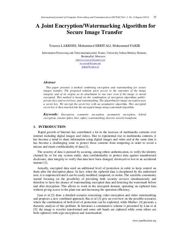 International journal of Computer Networking and Communication (IJCNAC)Vol. 1, No. 1(August 2013) 25 www.arpublication.org...