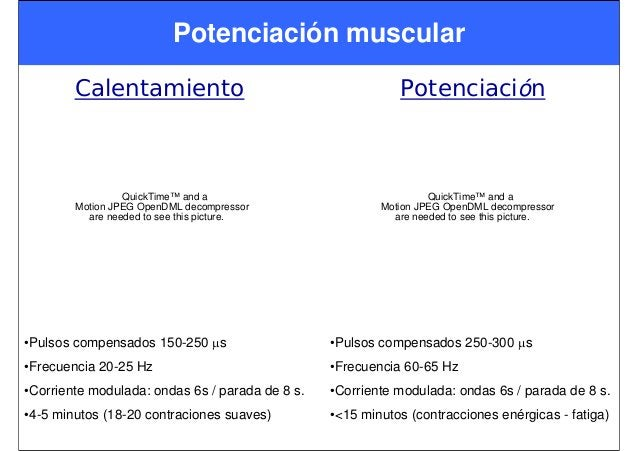 Potenciación muscular Calentamiento QuickTime™ and a Motion JPEG OpenDML decompressor are needed to see this picture. •Pul...