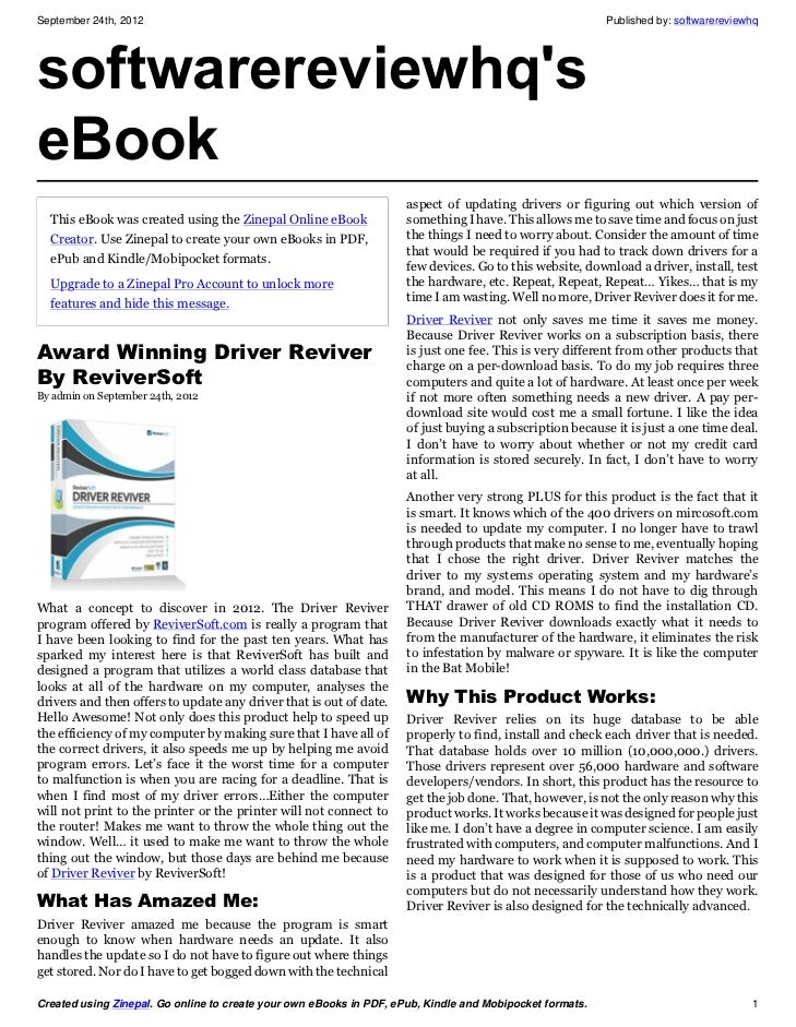 September 24th, 2012                                                                                      Published by: so...
