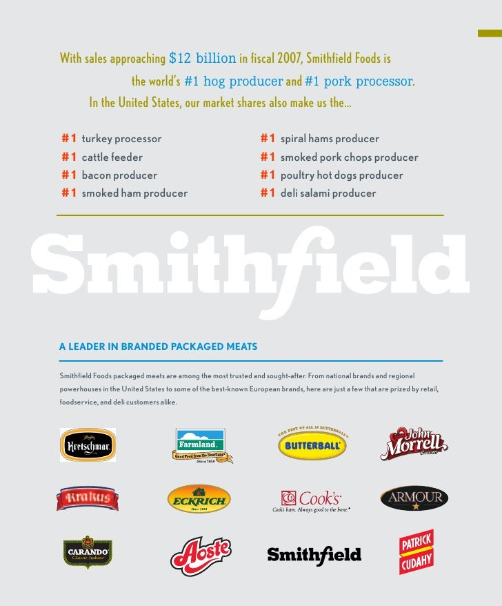 smithfield food Our Family of Companies 2007