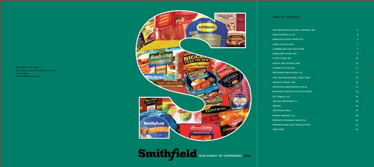 swot analysis of smithfield foods Whole foods swot analysis retailing of organic foods and the impact of these trends smithfield foods financial analysis dan ader objectives i have chosen.