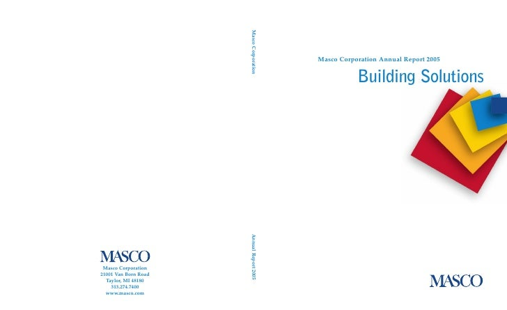 Masco Corporation Annual Report 2005              Building Solutions