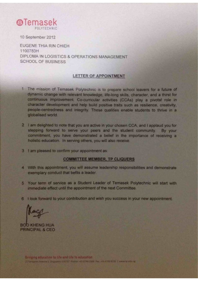 CQ Appointment Letter