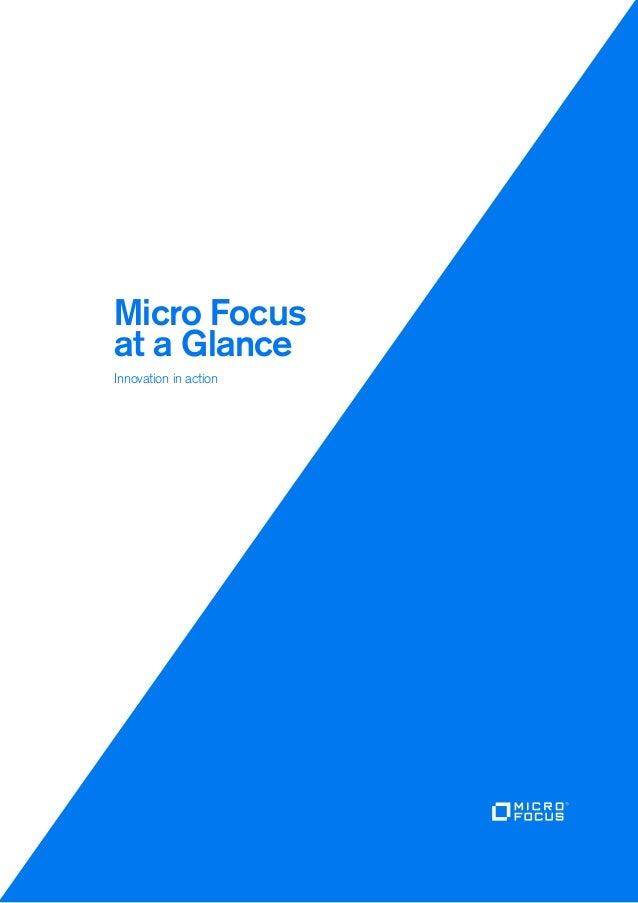 Micro Focus at a glance - #MFSummit2017