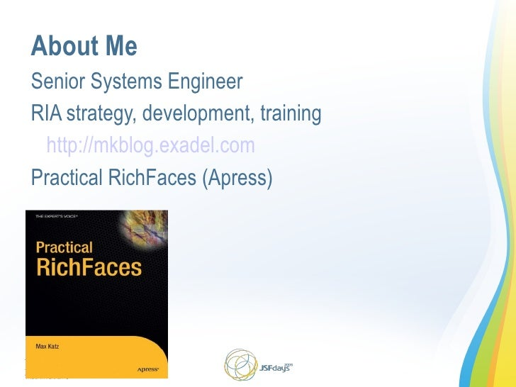 Building RIA Applications with RichFaces Slide 2