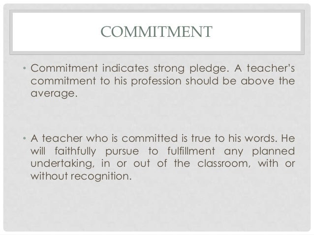 how to make a pledge of commitment