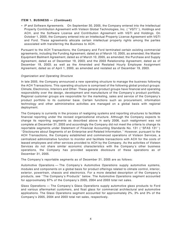 ITEM 1. BUSINESS Ì (Continued) ' IP and Software Agreements. On September 30, 2005, the Company entered into the Intellect...