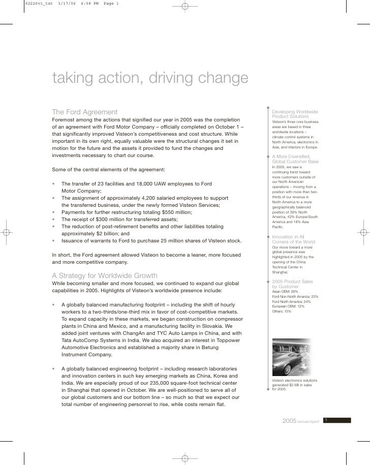 taking action, driving change The Ford Agreement                                                                   Develop...