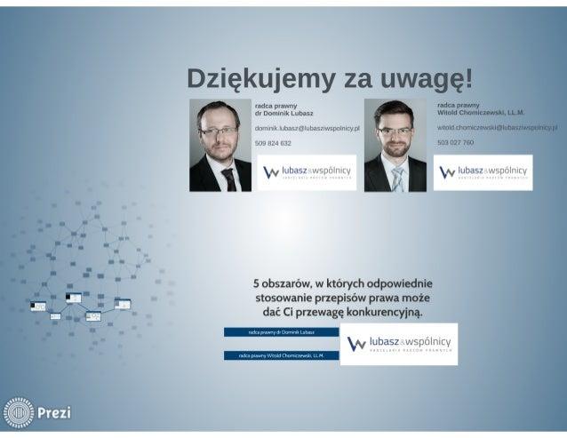 radca prawny dr Dominik Lubasz  dominik. lubasz@lubasziwspulnicy. pl 509 824 632  ~ Ipbąszswspövlnicy         5 obszarów, ...