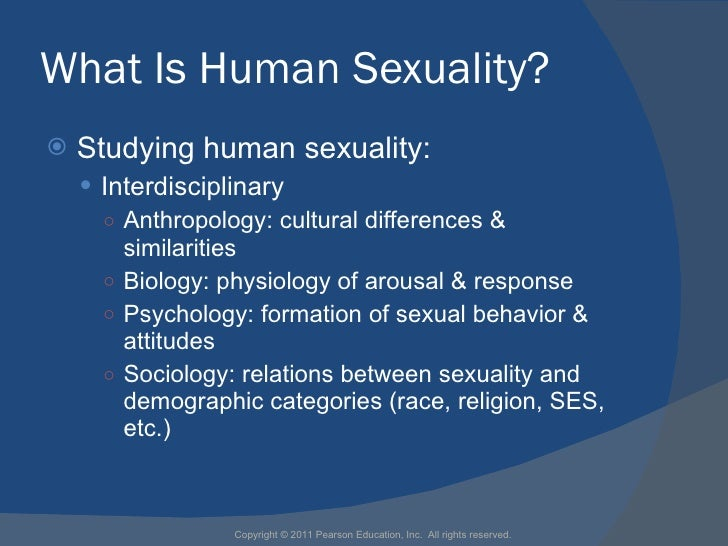 Sexuality Psychological Dimension Of