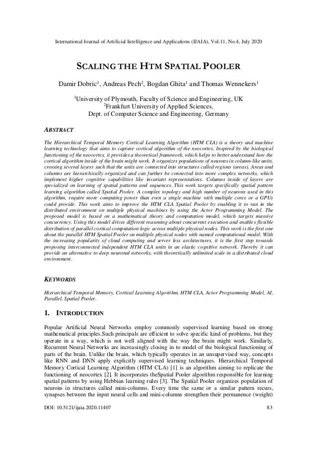 International Journal of Artificial Intelligence and Applications (IJAIA), Vol.11, No.4, July 2020 DOI: 10.5121/ijaia.2020...