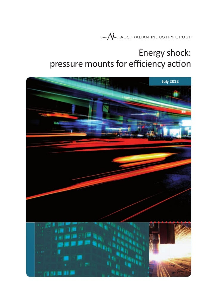 Energy shock:pressure mounts for efficiency action                           July 2012