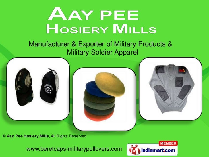 Manufacturer & Exporter of Military Products &    <br />                     Military Soldier Apparel<br />