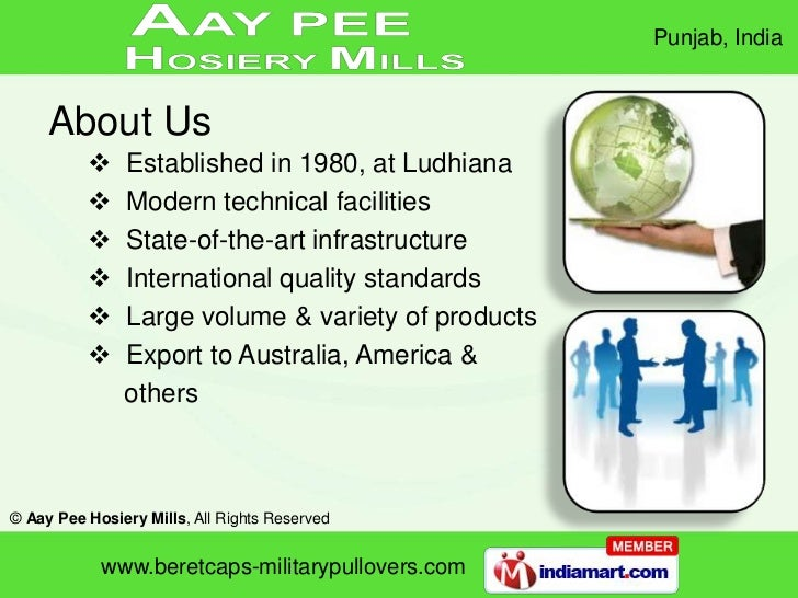 About Us<br /><ul><li>  Established in 1980, at Ludhiana