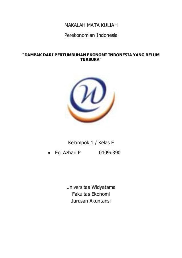 114359026 Makalah Sistem Ekonomi Indonesia Perekonomian Indonesia